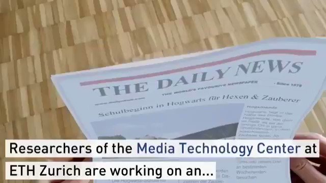 Image for the Tweet beginning: Researcers of the Media #Technology