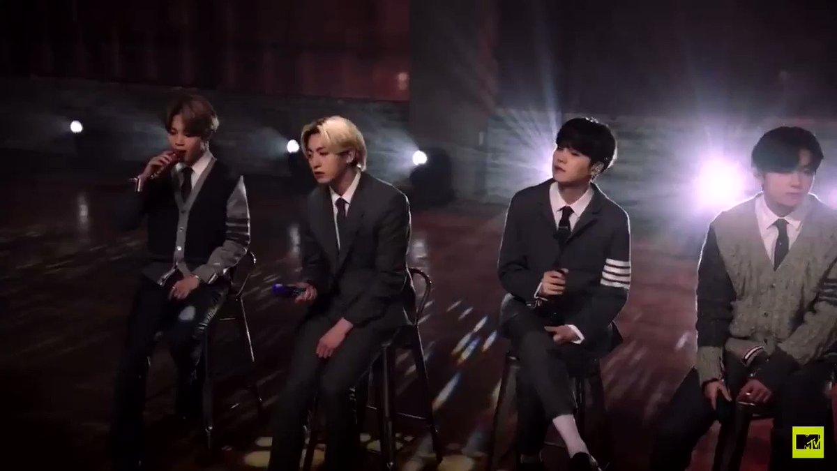 "They said ""Beautiful BTS""🤍🤍🤍  100%‼︎‼︎ They're so beautiful 🤍🤍🤍  #JIMIN #WeLoveYouJimin #Parkjimin #ThankYouJimin #FixYou #BTS #BTSonMTV #BTSUnplugged"