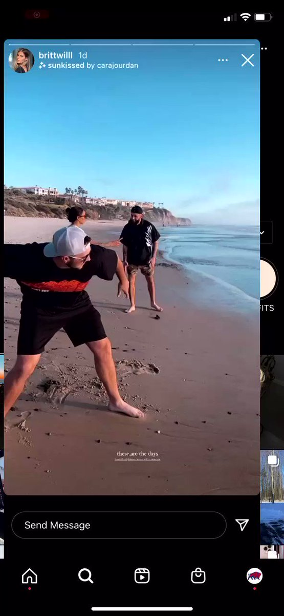 #Bills QB Josh Allen skipping a rock & one has to assume that it crossed the entire ocean right?