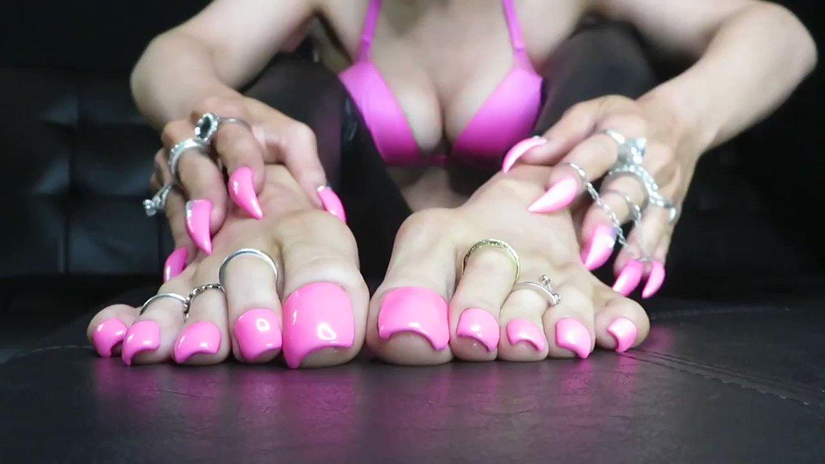 Pink Milf Toenails