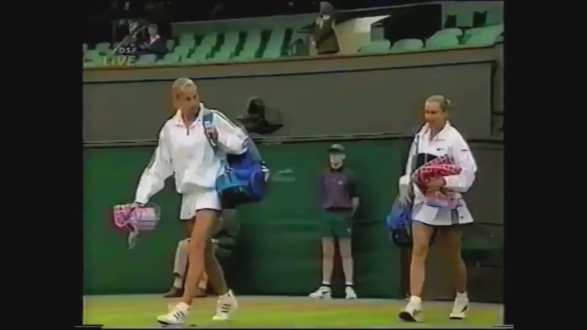 1997 Wimbledon Women's QF:  16-year old Anna Kournikova def. (4)Iva Majoli 7-6(1), 6-4 to make her lone major SF  Kournikova would lose in the semis to Martina Hingis, but was launched into international superstardom... becoming one of the most famous athletes in the world.