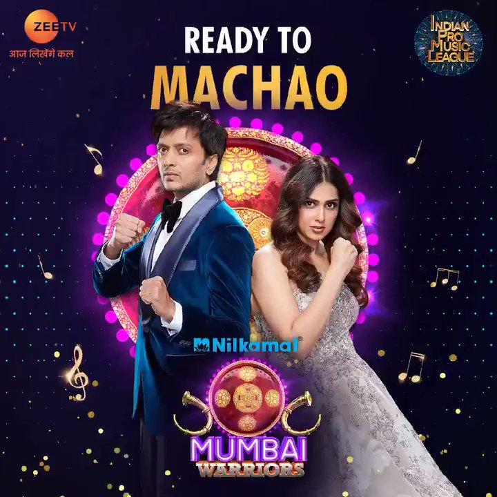Mumbai ke jalwa toh puri duniya mein hai aur ab, usme chaar chand lagane aa rahe hai hamare ek number, #NilkamalMumbaiWarriors.  Dekhna na bhule #IndianProMusicLeague ki opening ceremony, 26th February, Friday, raat 8 baje, sirf @ZeeTV  aur @ZEE5India  par.