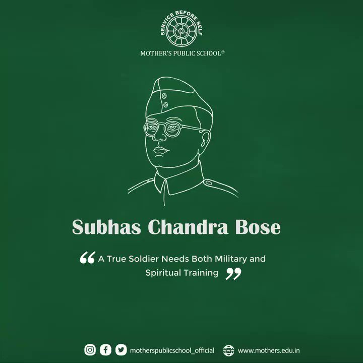 A true Soldier Needs Both Military and Spiritual Training!  For More:   #NetajiSubhasChandraBose #freedomfighter #freedom #motherspublicschool #school #education #careergoals #Bhubaneswar #puri #pahala #parentingtips #parents #children #parenting