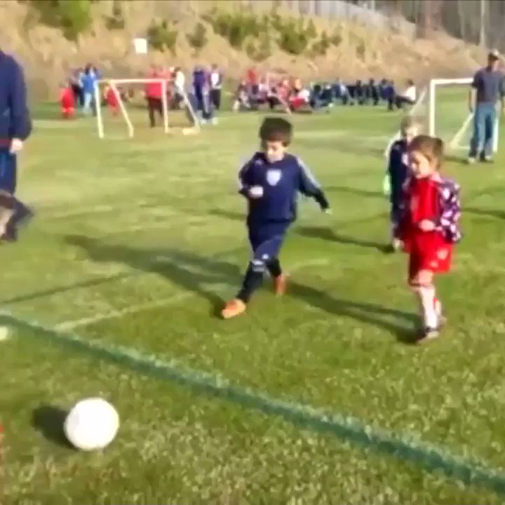 This kid hugging his little brother during the soccer match is just what I needed today...