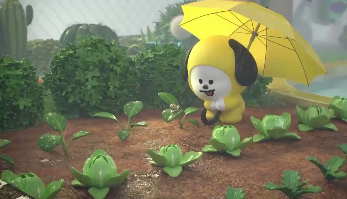 What's your favorite type of weather?  CHIMMY loves a nice rainy day. The raindrops keep CHIMMY relaxed 🌧  #Raining #Raindrops  #CHIMMY #ASMR #BT21