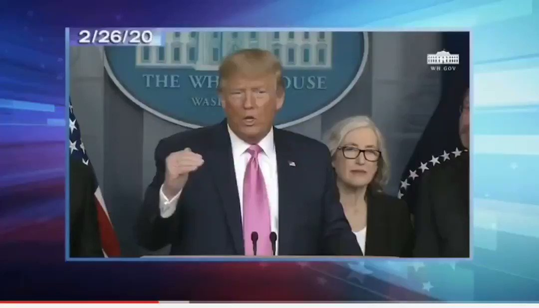 """Donald Trump, one year ago today: """"And again, when you have 15 people, and the 15 within a couple of days is going to be down to close to zero, that's a pretty good job we've done...We're going very substantially down, not up."""""""