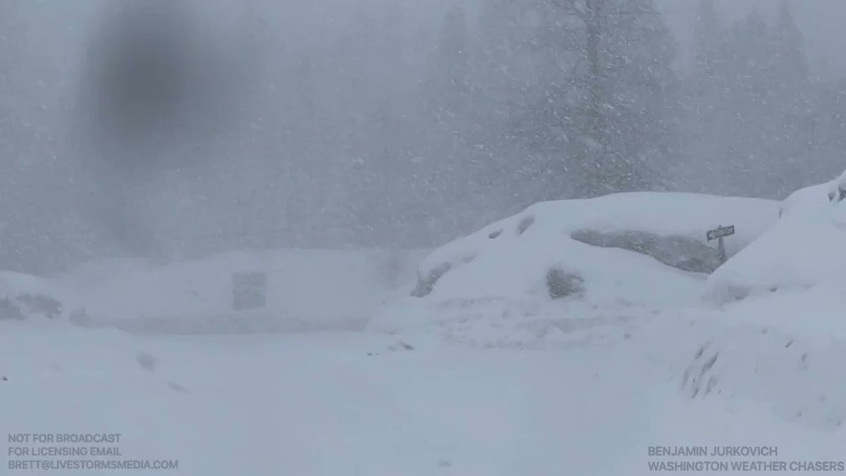 Heavy snow currently falling up at Snoqualmie Pass. #wawx #snow