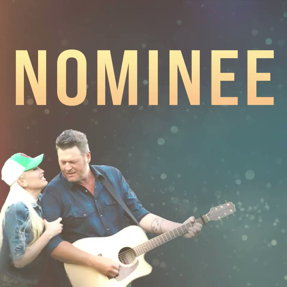 What a way to start the day!!! Thanks y'all! Honored to be nominated at this year's @ACMawards with the one and only @gwenstefani.. See y'all, April 18thon @CBS. #ACMawards