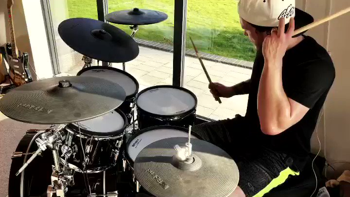 """This weeks Drum Cover Friday, as requested by so many, is """"Fallin' (Adrenaline)"""" by @whydontwemusic!! Great tune to jam to, and catchy as hell!! Just doing my thing and loving every minute of it! Happy Friday! Xo  #Drums #WHYDONTWE #JoshDevine"""
