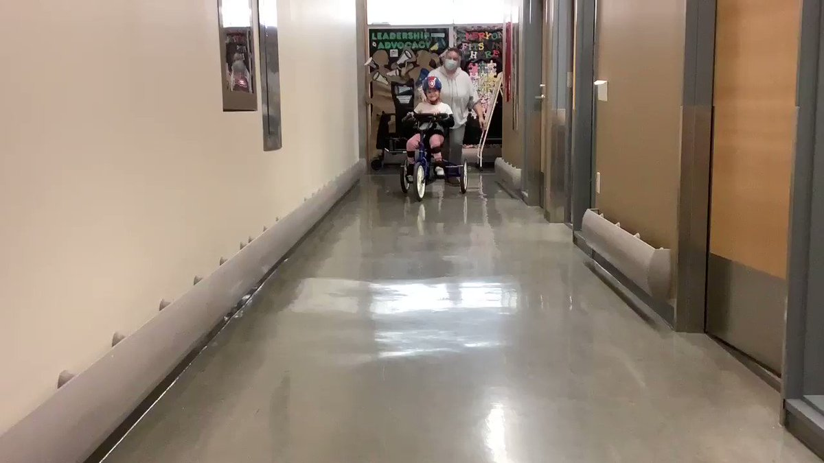 It's always a great day to go for a ride and even better when you can ride through the hallways!  #mobility #BikeRiding #FridayFeeling #PT #DreamLearnGrow