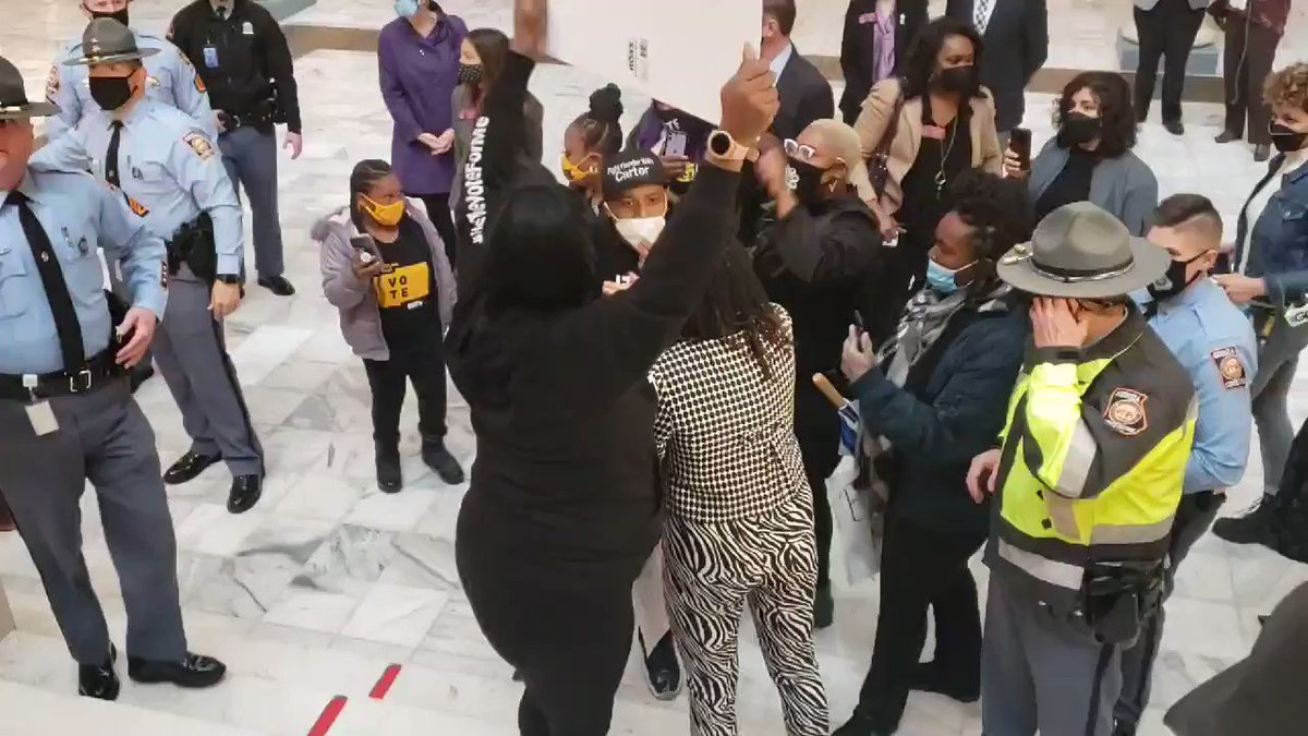 ID for absentee ballots are now required in Georgia. Angry leftists react by storming the state capitol.
