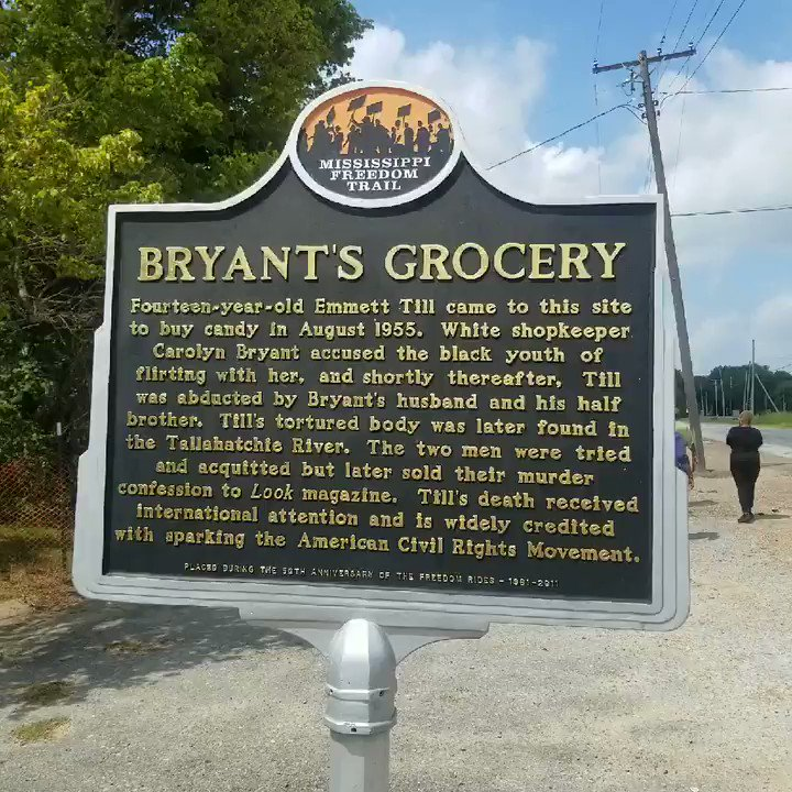 We visited the site of the Bryant's Grocery Store where #EmmettTill  had his fateful encounter with #CarolynBryant Donham. Her false claim lead to his murder she is still alive. Bring truth and closure to his case Sign the #JusticeForEmmettTill petition tinyurl.com/y3v5dauk