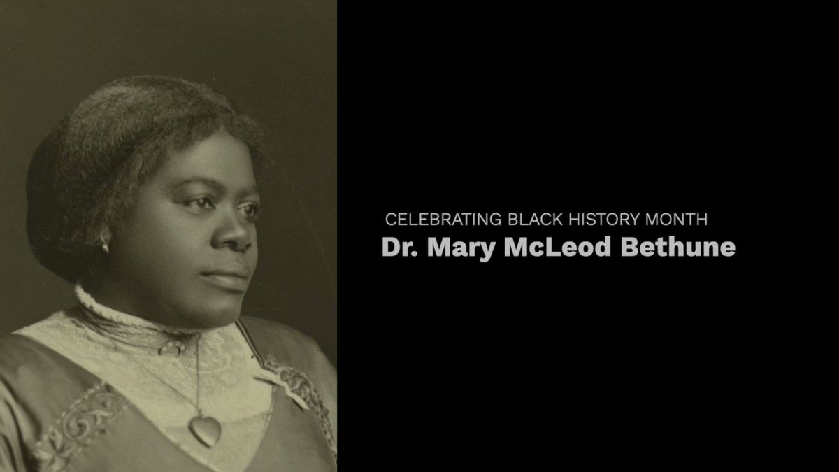 As #BlackHistoryMonth winds down, I want to highlight an incredible woman. Dr. Mary McLeod Bethune put her life into education, making sure in many ways that young Black boys, girls, men and women had the opportunities to learn and grow that they deserved. #FridayFacts