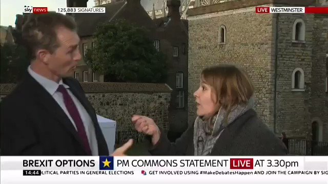 CLASSIC, AGGRESSIVE REMOANER ASSAULTING A LEAVE SUPPORTER FOLLOWED BY THE REPULSIVE KAY BURLEY @SKYNEWS TELLING HIM TO SHUT UP. THANK GOD WE'RE OUT!