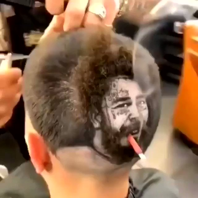 #repost @postyxco Would you get this haircut?  via @robtheoriginal | @postmalone  #postmalone #tattoo #art #entertainment #rapper #singersongwriter #fame #life #lifestyle #rockstar #sunflower #hiphop