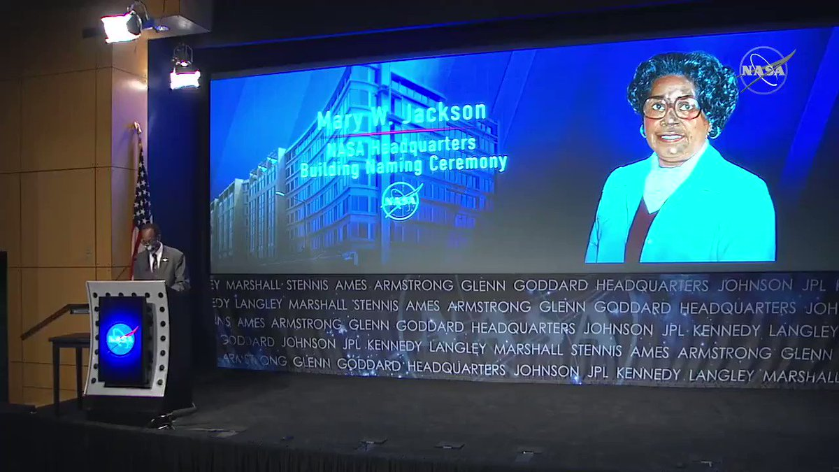 """She enabled the hiring and promotion of a new generation of female mathematicians, engineers, and scientists. Mary W. Jackson was a pioneer in diversity and inclusion in policy, yes, but even more importantly, in action."" — @NASA_Langley center director Clayton Turner"
