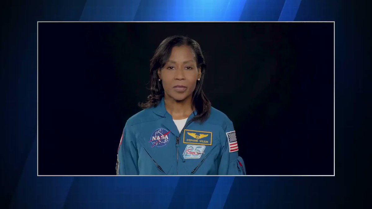 """I hope that it inspires young girls, and in particular young girls of color, to consider a STEM field as a career. It shows our youth what achievements are possible through hard work, education, dedication, and commitment."" — @Astro_Stephanie Wilson"