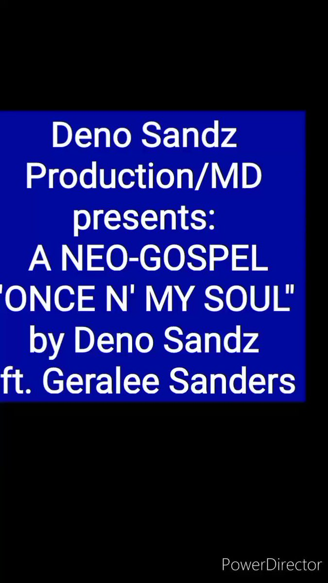 """Deno Sandz Production/Music Division presents:  A NEO-GOSPEL """"ONCE N' MY SOUL"""" by Deno Sandz ft. Geralee Sanders Written/Produced: Deno Sandz Vocals:Geralee Sanders Entirety:  *Do not own the rights to the sample* #gospeloftheday #GospelMixRadio"""