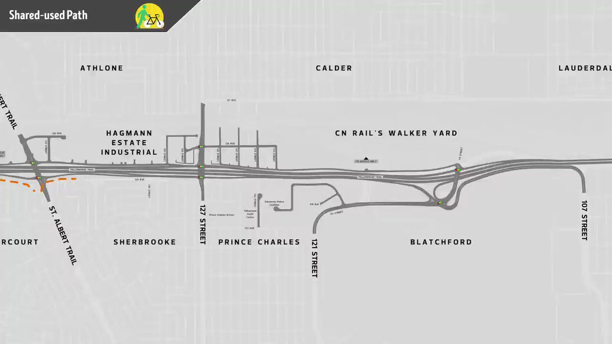 $1 billion Yellowhead freeway conversion: @CityofEdmonton has an 8.5 min video detailing St Albert Trail to 97 St, asking for feedback. Tiny neighbourhood projects provide more info than this. Here is entirety of active transportation content: edmonton.ca/projects_plans… #yegbike