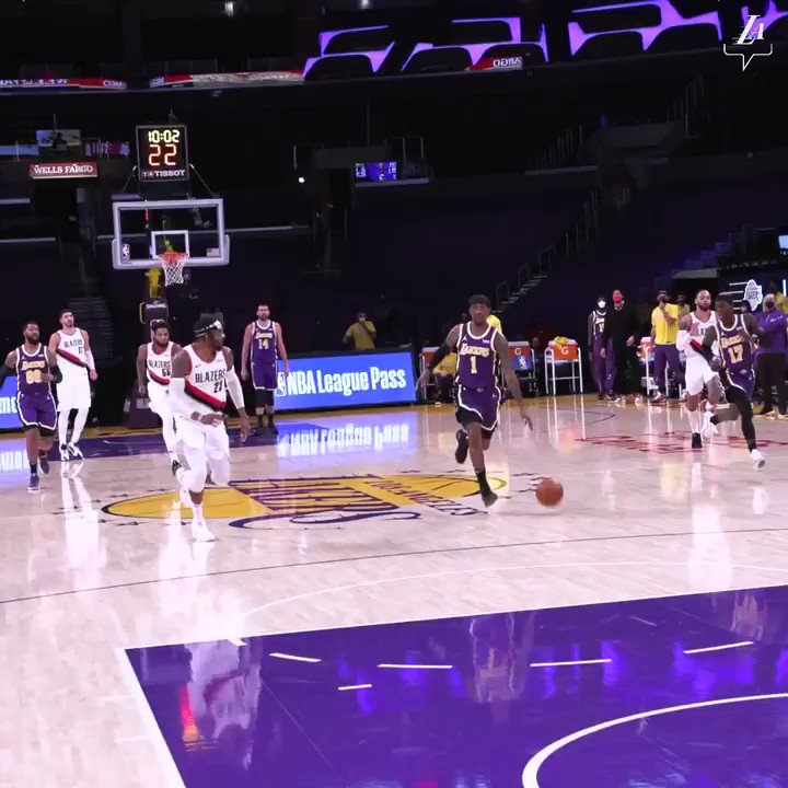 @robinlundberg Lakers losing streak is finally over led by LBJ & Schroder! #LakeShow