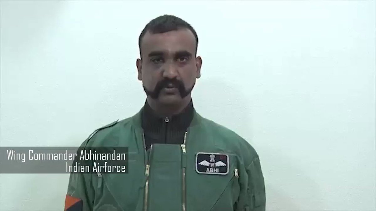 A new video of Wing Commander Abhinandan in which he talks about peace between Pakistan and India
