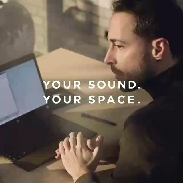 For freedom of movement without headphones, you can pair your portable speaker with your phone to answer calls and take meetings. Do you use a portable speaker when working from home? #BeosoundA1 #YourSoundYourSpace #BangOlufsen