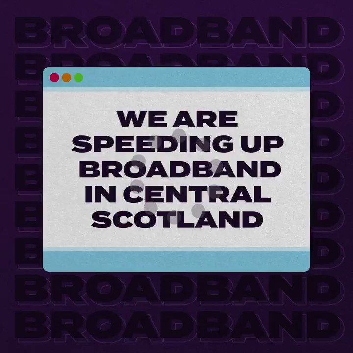 Say goodbye to buffering 👋  Central Scotland will be the very first area to benefit from the UK government's £5 billion nationwide investment in 𝒍𝒊𝒈𝒉𝒕𝒏𝒊𝒏𝒈-𝒇𝒂𝒔𝒕 𝒃𝒓𝒐𝒂𝒅𝒃𝒂𝒏𝒅.  £4.5 million from the fund will help deliver gigabit broadband to thousands of homes.