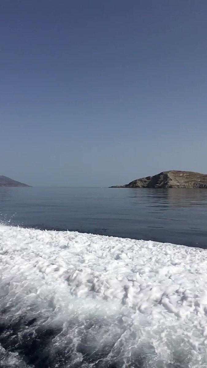 Γυρνώντας από το ψάρεμα καλημέρα από το Αιγαίο #naxos #aegeansea #weekendvibes #Greece2021 #GoodMorningTwitterWorld #goodmorning