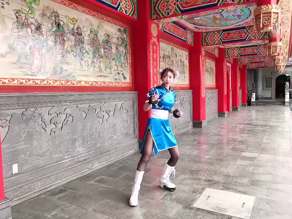 Replying to @atata_dayo: 蹴りの練習をする春麗🔥  #StreetFighter