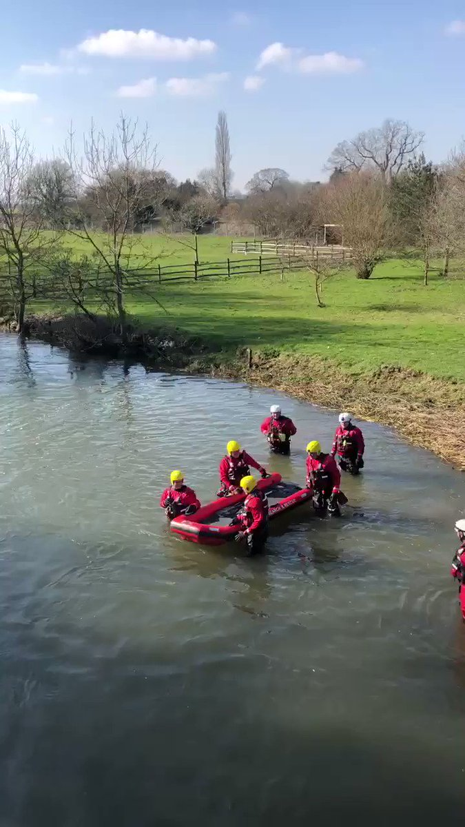 Today our water team are training in the River Stour in Wye. It is vital our teams continue training and are providing negative lateral flow tests at the start of each session.  #training #watersafety #stour #riverstour #wye #kenttogether #wateraware