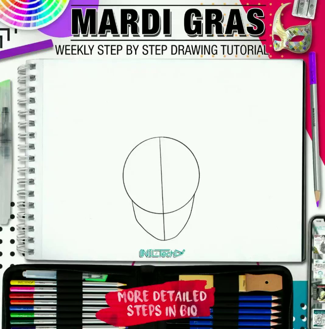 Make a Mardi Gras drawing with a new NIL-Tech step by step tutorial✏️👍  Just click    #art #pencilset #drawing #tools #pencildrawing #artsupplies #stepbystep #artsharing #drawingtutorial #pencilsketch #mardigras #fattuesday #3kingsday