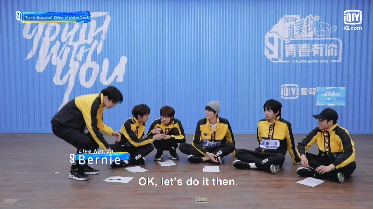 Disagreements are bound to happen and our trainees resolved them maturely! 👏🏻 #YouthWithYou3Ep04  Stream #YouthWithYou3 on #iQiyi: 📌Exclusive clips and voting available globally ONLY on iQiyi &    #Jony #River #NiuZaiZai #Nemo #Bernie #ShiAn