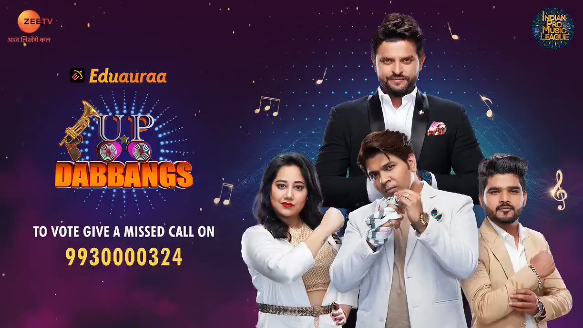 Kya hamare #EduauraaUPDabbangs ka jaado chal chuka hai aapke dilon pe? Toh dijiye inhe vote, by giving a missed call on 9930000324or log on to @ZEE5India app. Voting lines are open till Sunday at 8 pm.