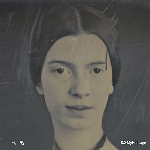 These are old photos of famous artists and scientists animated into living portraits using AI: myheritage.com/deep-nostalgia An eerie yet captivating technology, raising many complex issues. Emily Dickinson