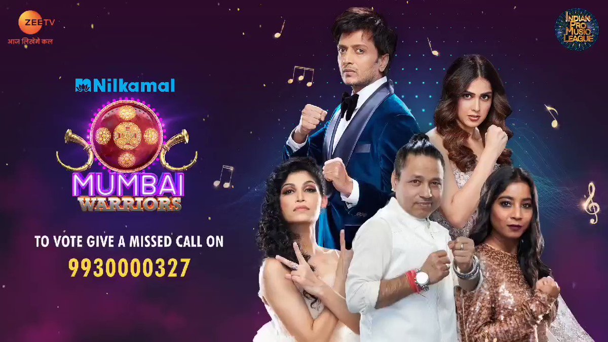 #NilkamalMumbaiWarriors are here to stay and slay the stage of #IPML, but not without your love and support! To vote for them, give a missed call on 9930000327 or log on to @ZEE5India app. Voting lines are open till Sunday at 8 pm.