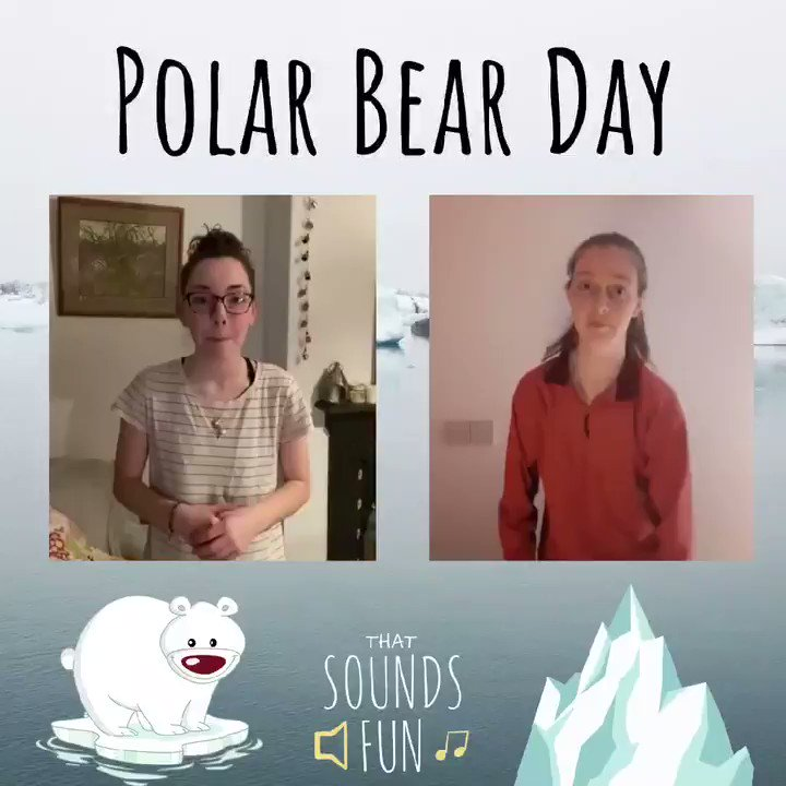 Today is International Polar Bear Day! ‍❄️ Do you have a fun fact about polar bears? Follow this link for more info:  #thatsoundsfun #InternationalPolarBearDay #50yearsonaniceberg #singtogether #savethepolarbears #research #GlobalWarming #FunFact #campsong