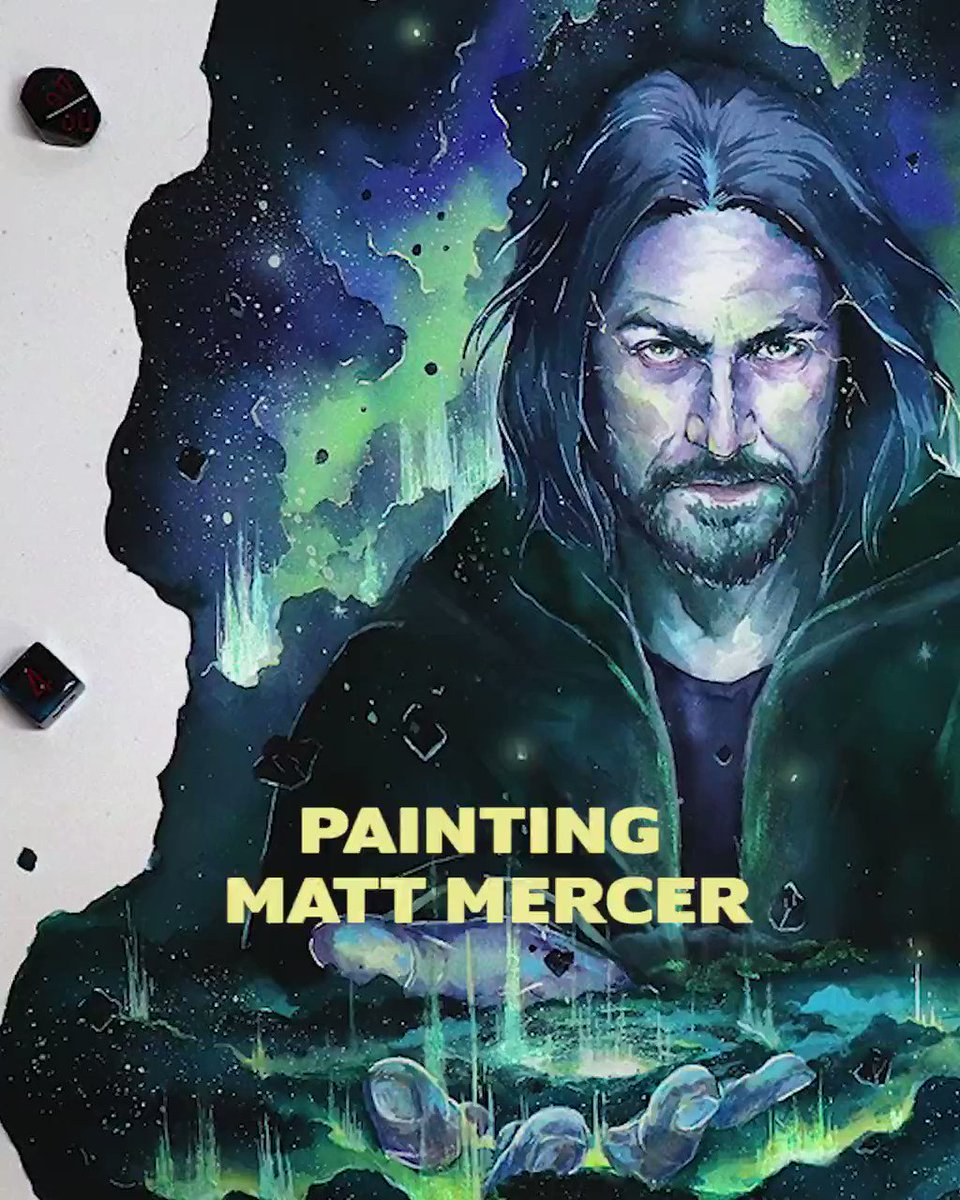 Speed painting of @matthewmercer from @CriticalRole <3 Only took me 2 years to find the footage xD Hope you enjoy!