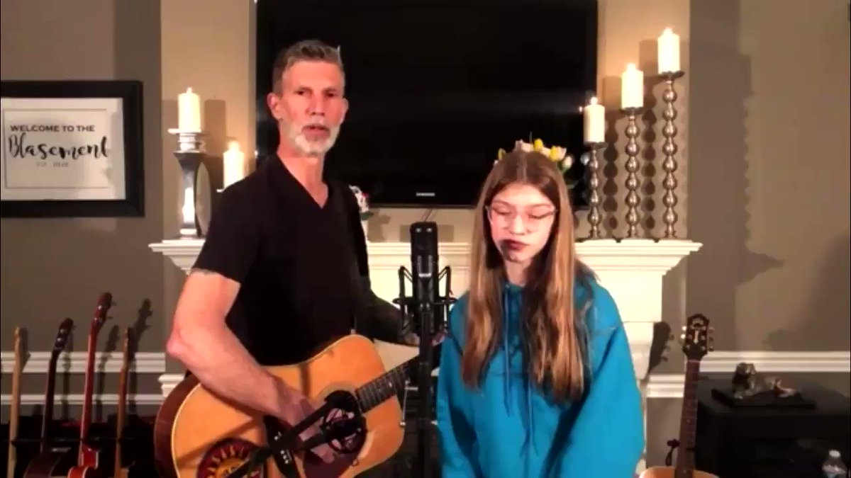 Sweet moment... Scott singing with his daughter, Ava.