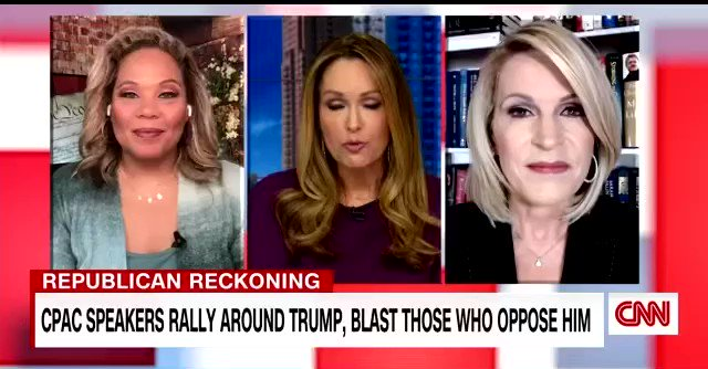 📺 On CNN today, I discussed the worship of Trump at #CPAC2021  🤦🏽♀️  I asked why in the world would the GOP want to hitch their wagon to a failed, twice impeached, insurrectionist former president...🤷🏽♀️  Here's a clip... @ProjectLincoln  #QPAC2021