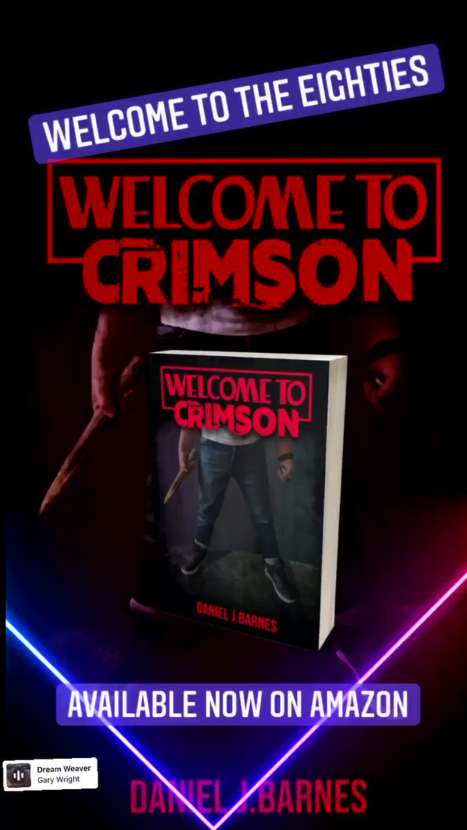 Welcome to the eighties, Welcome to Crimson! Get your copy now on Amazon! #welcometocrimson #horrorcomedy #horrorgenre #horrornovels #80shorror #80s #selfpublishing #author #writingcommunity #literaryagents #writerslife #novelsandbooks