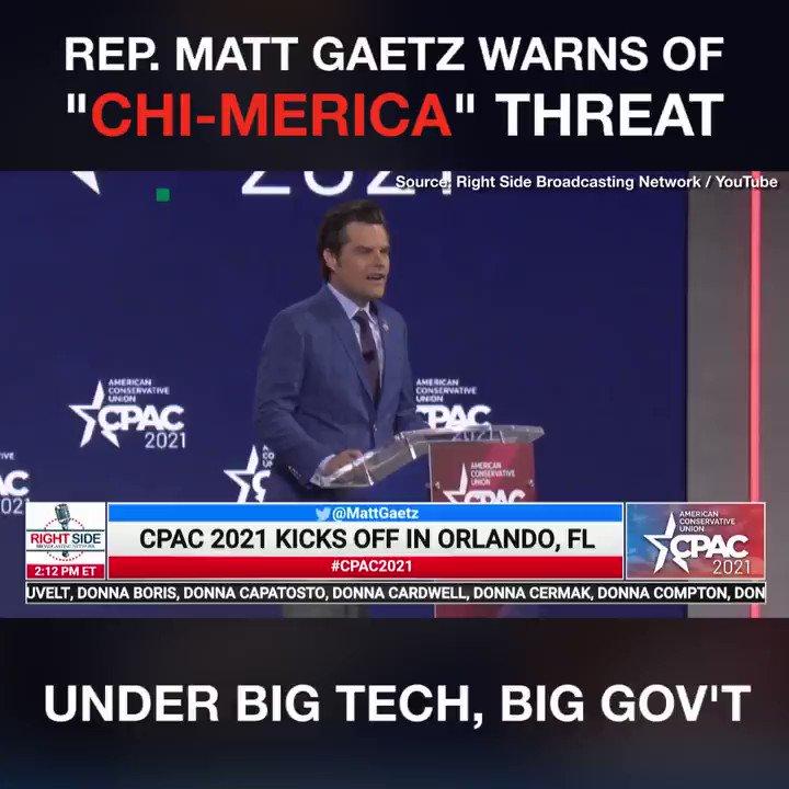 Replying to @BreitbartNews: .@RepMattGaetz has a warning for America.