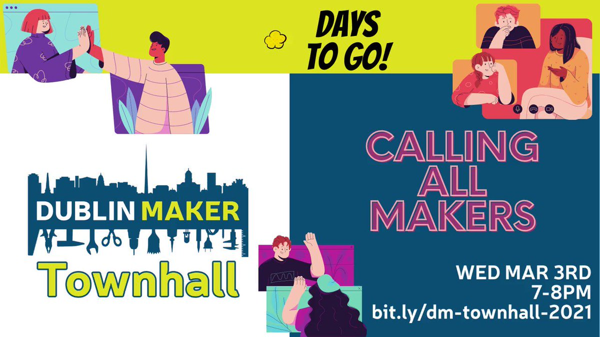 In a few days time, our ears are open to ideas and suggestions on how this year's #DublinMaker can be just amazing as the ones we had before. Come to our #TownHall on Wed (Mar 3, 7PM). Dets:  #SharingSunday #Makers #Community