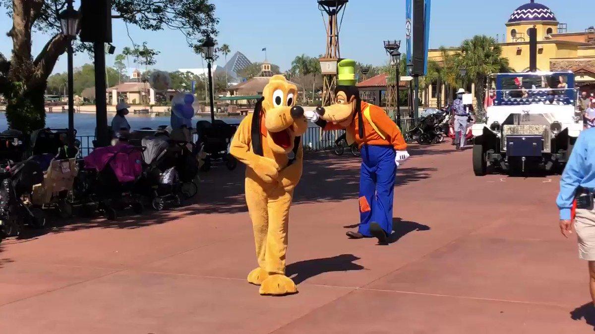 どうしても #キャラクター 達だけに目がいってしまいますが #ミッキー と #ミニー が乗っている車のタイヤは #隠れミッキー になっています  #海外ディズニー #フロリダディズニー