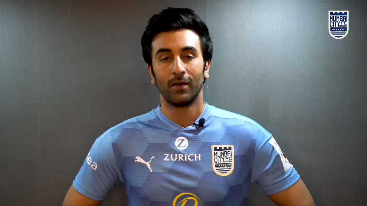 Replying to @MumbaiCityFC: Wishes from our co-owner, #RanbirKapoor ahead of the BIG clash! 💙  #MCFCATKMB #AamchiCity 🔵