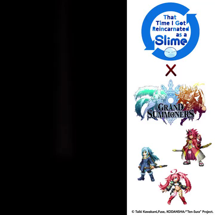 @8rxZ61QJxgOl35s Thanks for entering #GrandSummoners x #TenSura #instantwin #sweepstakes! 🎉  Watch the video to see if you won a $100 Amazon gift card! 🌟  😍 Retweet every day for another chance to win!  Join the crossover NOW to get a FREE ★5 #Rimuru #Slime Unit! 💖