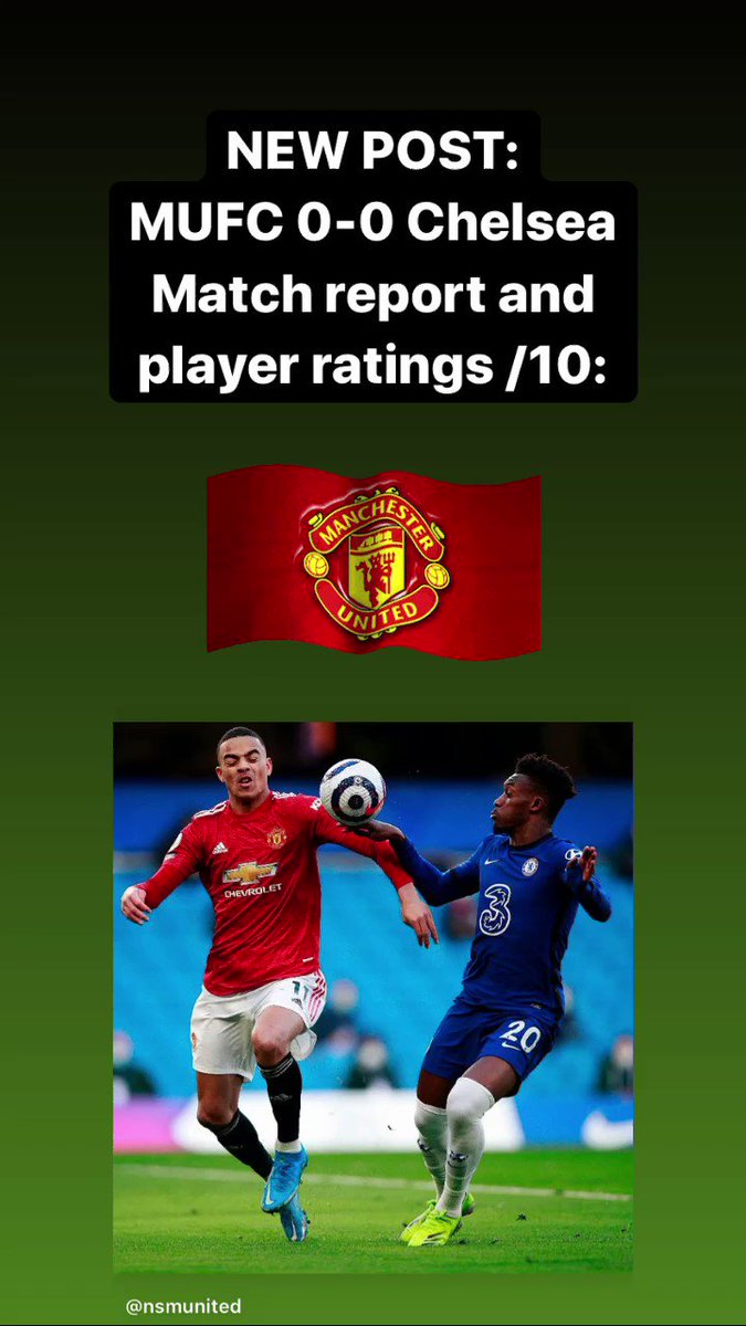 NEW POST:  MUFC 0-0 Chelsea - Match report and player ratings /10: (Links below)  PART 1 - Report & Ratings:   PART 2 - Analysis - VAR shenanigans:   PART 3 - What's next + stats:   #CHEMUN #MUFC 🔴