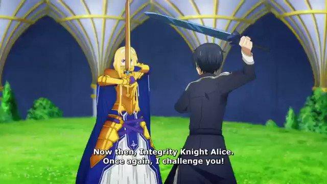 🌸Sword Art Online Alicization🌸  Kirito contre Alice ✨ Tout ceci agrémenté par l'intervention de Eugeo 💪  #sao #SwordArtOnline #kirito #eugeo #asuna #kazutokirigaya #saoalicization