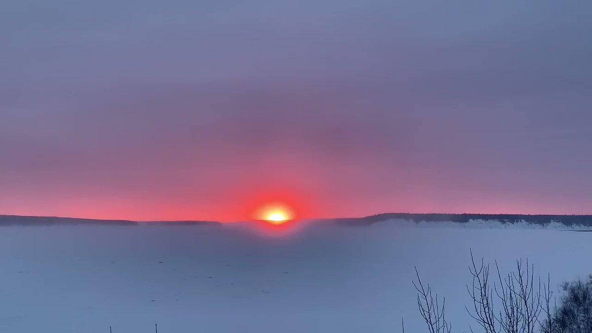 Great Morning in the Dehcho #dehcho #dene #liidliikue #sunrise #sundayvibes