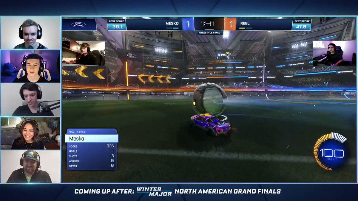FORD + ROCKET LEAGUE FREESTYLE INVITATIONAL CHAMPION 🏆  @MeskoRL hits this insane shot to win a real Ford F-150 truck! GG WP. #FordxRLFreestyle