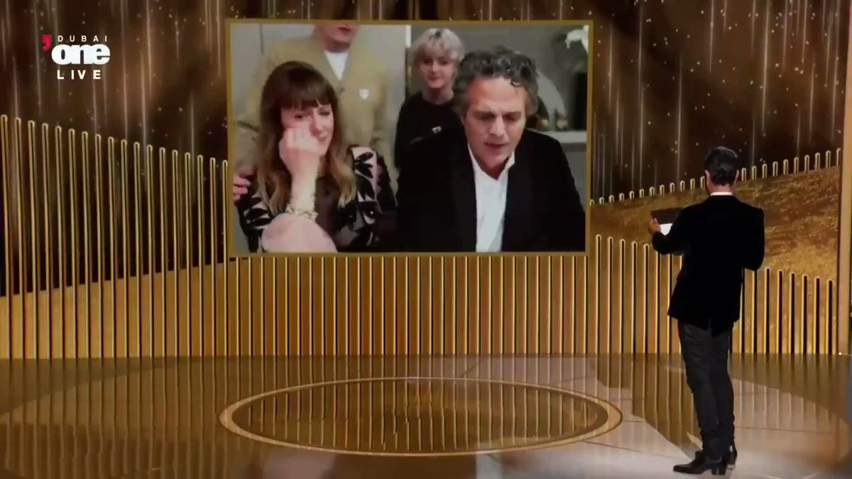 """Mark Ruffalo addresses climate change, inclusion, and justice in his #GoldenGlobes speech:  """"We have a dying mother, just like the mother in our story. She's Mother Earth, and we must come to balance with her and honor her, and she'll heal too."""""""